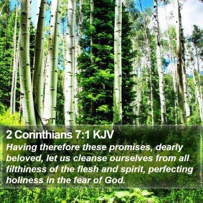 2 Corinthians 7:1 KJV Bible Verse Image