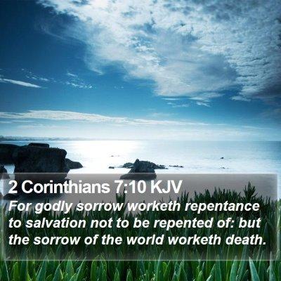 2 Corinthians 7:10 KJV Bible Verse Image
