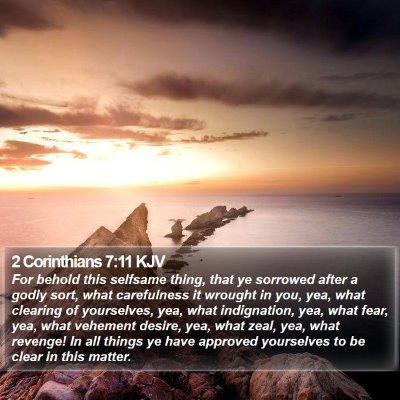 2 Corinthians 7:11 KJV Bible Verse Image