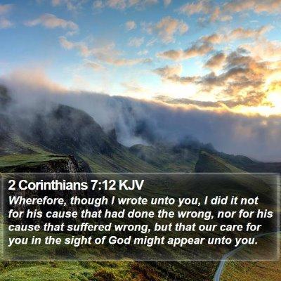 2 Corinthians 7:12 KJV Bible Verse Image