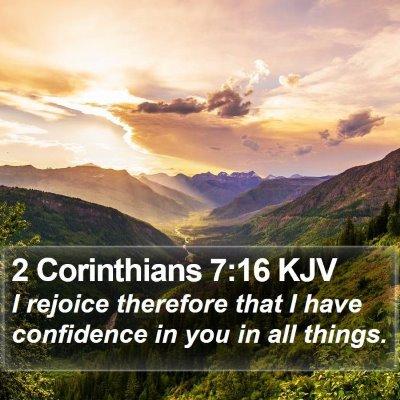 2 Corinthians 7:16 KJV Bible Verse Image