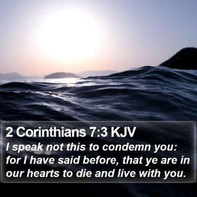 2 Corinthians 7:3 KJV Bible Verse Image