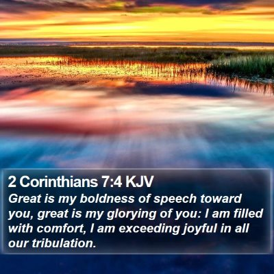 2 Corinthians 7:4 KJV Bible Verse Image