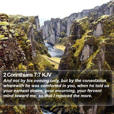 2 Corinthians 7:7 KJV Bible Verse Image