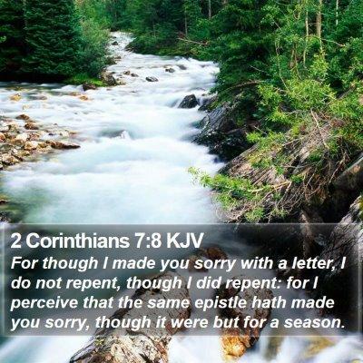 2 Corinthians 7:8 KJV Bible Verse Image