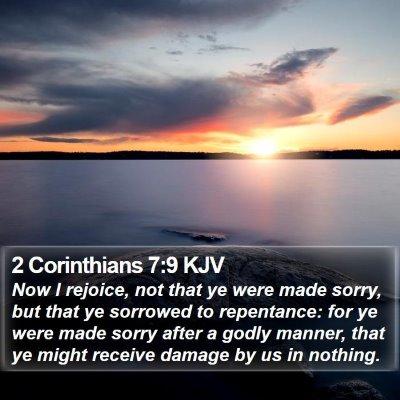 2 Corinthians 7:9 KJV Bible Verse Image