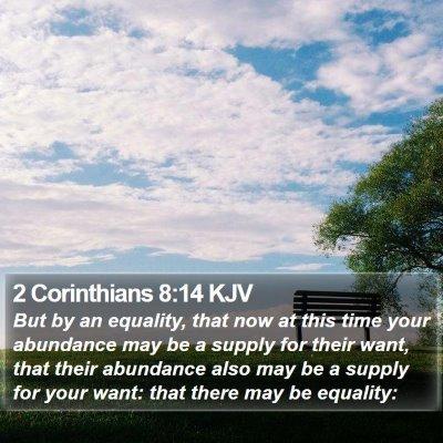 2 Corinthians 8:14 KJV Bible Verse Image