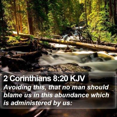 2 Corinthians 8:20 KJV Bible Verse Image