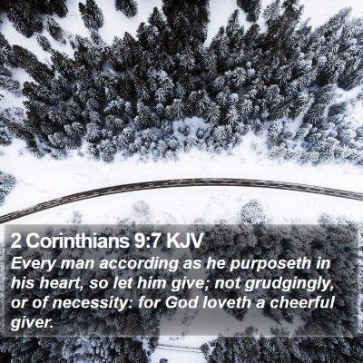 2 Corinthians 9:7 KJV Bible Verse Image