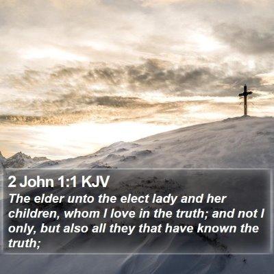 2 John 1:1 KJV Bible Verse Image