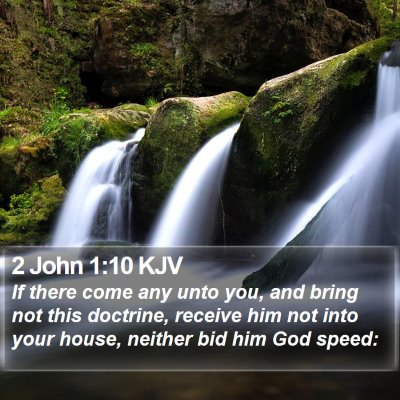 2 John 1:10 KJV Bible Verse Image