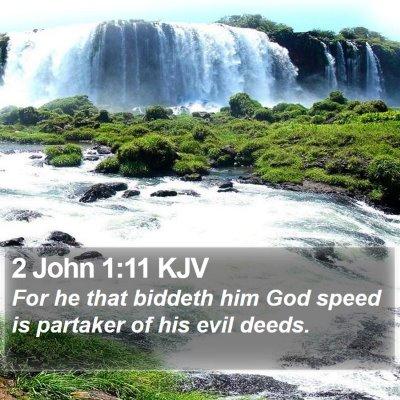 2 John 1:11 KJV Bible Verse Image