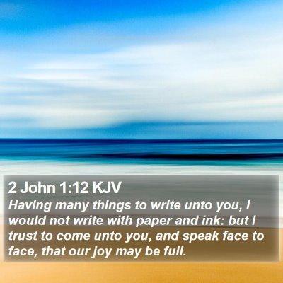 2 John 1:12 KJV Bible Verse Image
