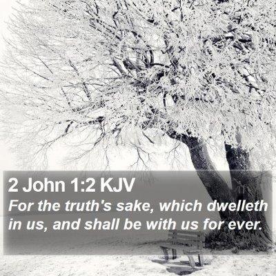 2 John 1:2 KJV Bible Verse Image