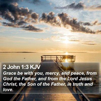 2 John 1:3 KJV Bible Verse Image