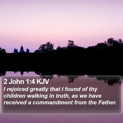 2 John 1:4 KJV Bible Verse Image