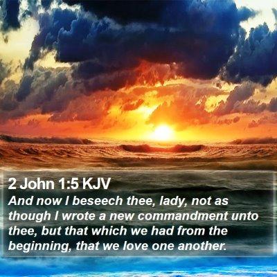 2 John 1:5 KJV Bible Verse Image