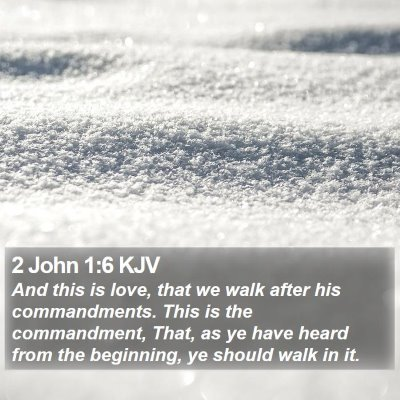 2 John 1:6 KJV Bible Verse Image