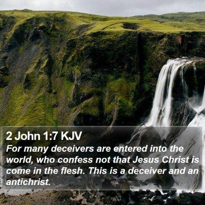2 John 1:7 KJV Bible Verse Image