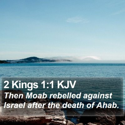 2 Kings 1:1 KJV Bible Verse Image