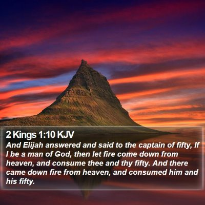 2 Kings 1:10 KJV Bible Verse Image