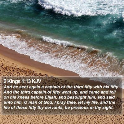 2 Kings 1:13 KJV Bible Verse Image
