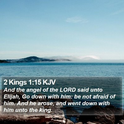 2 Kings 1:15 KJV Bible Verse Image