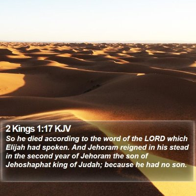 2 Kings 1:17 KJV Bible Verse Image