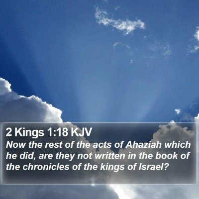 2 Kings 1:18 KJV Bible Verse Image