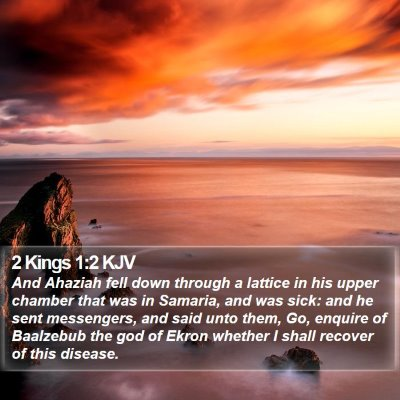 2 Kings 1:2 KJV Bible Verse Image