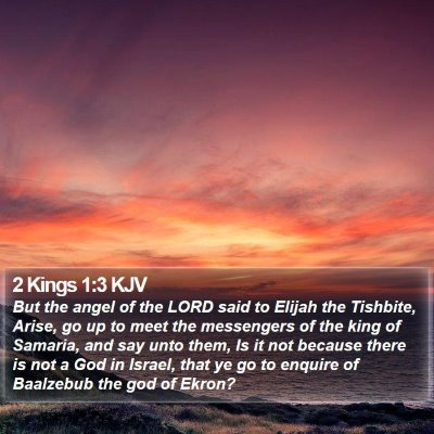 2 Kings 1:3 KJV Bible Verse Image