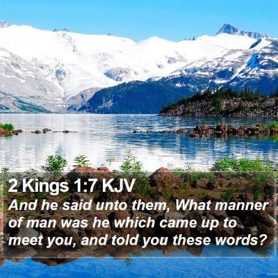 2 Kings 1:7 KJV Bible Verse Image