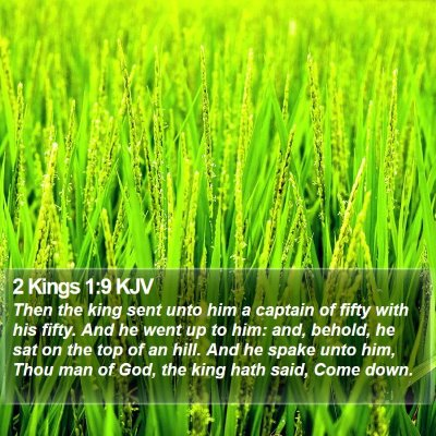2 Kings 1:9 KJV Bible Verse Image