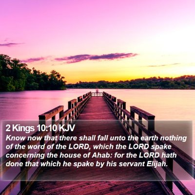 2 Kings 10:10 KJV Bible Verse Image