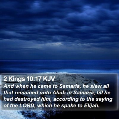 2 Kings 10:17 KJV Bible Verse Image