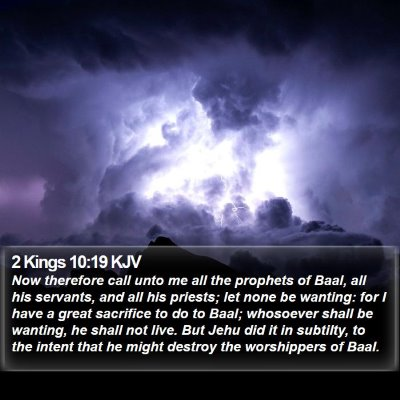 2 Kings 10:19 KJV Bible Verse Image