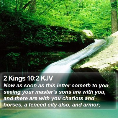 2 Kings 10:2 KJV Bible Verse Image