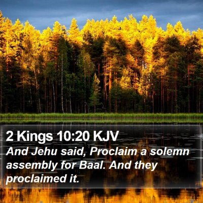2 Kings 10:20 KJV Bible Verse Image