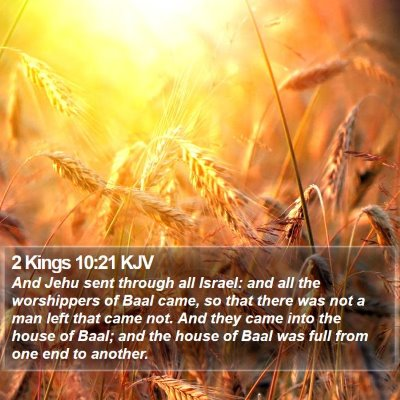 2 Kings 10:21 KJV Bible Verse Image