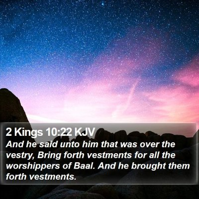 2 Kings 10:22 KJV Bible Verse Image