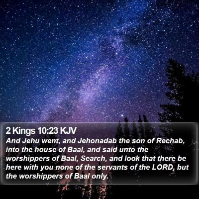 2 Kings 10:23 KJV Bible Verse Image