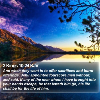 2 Kings 10:24 KJV Bible Verse Image