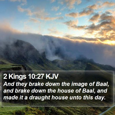 2 Kings 10:27 KJV Bible Verse Image