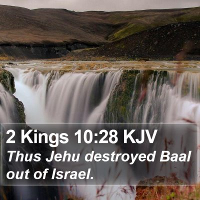 2 Kings 10:28 KJV Bible Verse Image