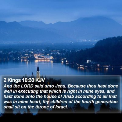 2 Kings 10:30 KJV Bible Verse Image