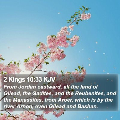 2 Kings 10:33 KJV Bible Verse Image