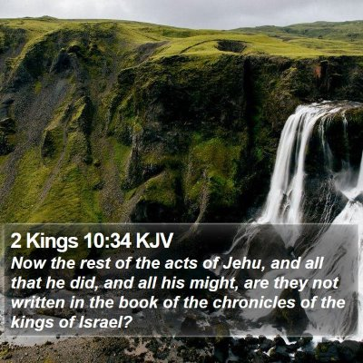 2 Kings 10:34 KJV Bible Verse Image