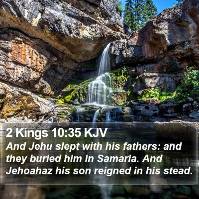 2 Kings 10:35 KJV Bible Verse Image