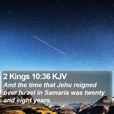 2 Kings 10:36 KJV Bible Verse Image