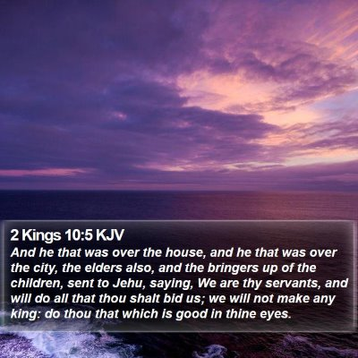 2 Kings 10:5 KJV Bible Verse Image